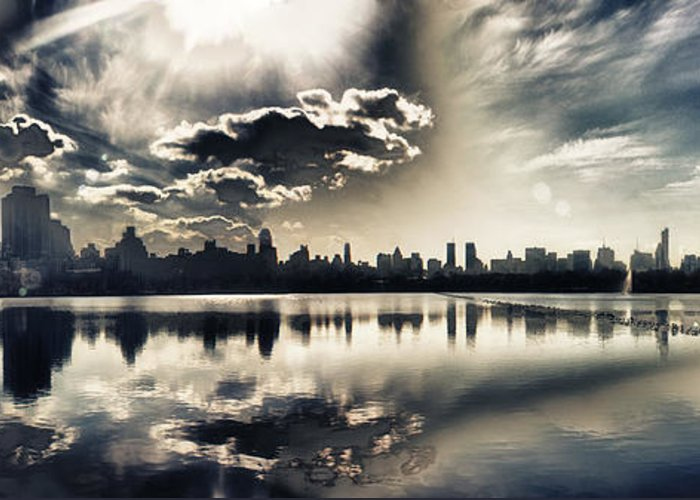 New York Central Park Greeting Card featuring the photograph Turbulent Afternoon by Nishanth Gopinathan