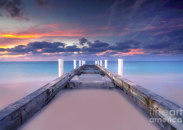 Beach Greeting Card featuring the photograph Turquoise Paradise by Marco Crupi