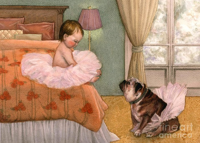 Bedroom Greeting Card featuring the painting Tutu by Isabella Kung