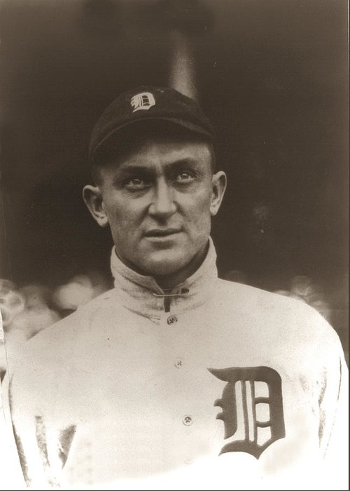 Ty Cobb 1915 Greeting Card featuring the photograph Ty Cobb 1915 by Unknown