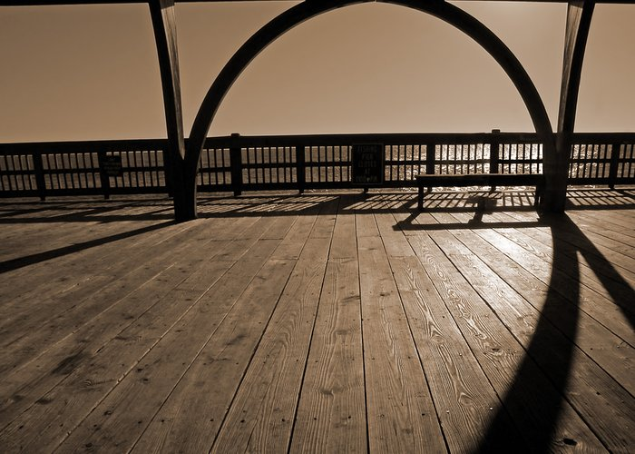 Tybee Island Pier Greeting Card featuring the photograph Tybee Island Pier by Steven Michael