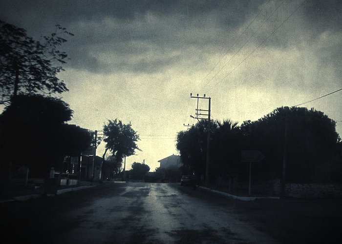 Road Greeting Card featuring the photograph U-turn by Taylan Apukovska