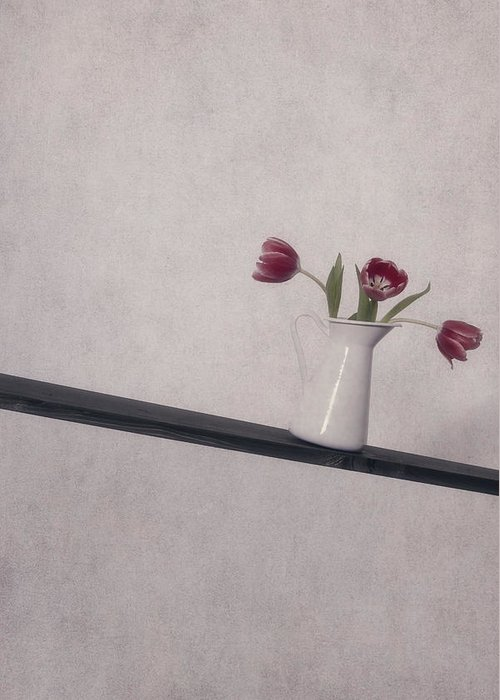 Tulip Greeting Card featuring the photograph Unbalanced Flowers by Joana Kruse