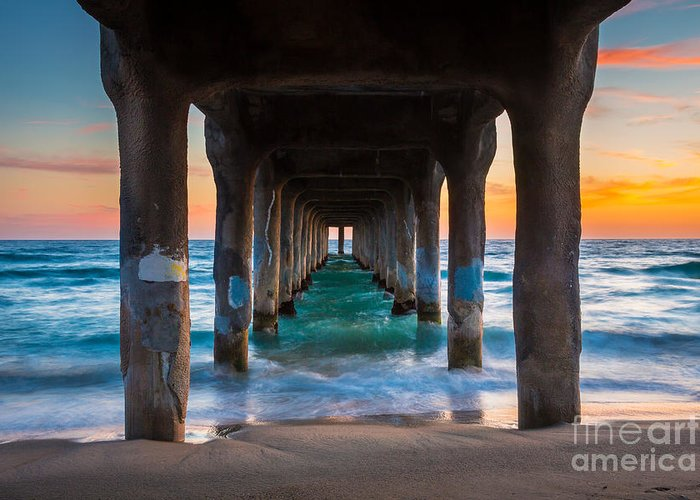America Greeting Card featuring the photograph Under The Pier by Inge Johnsson