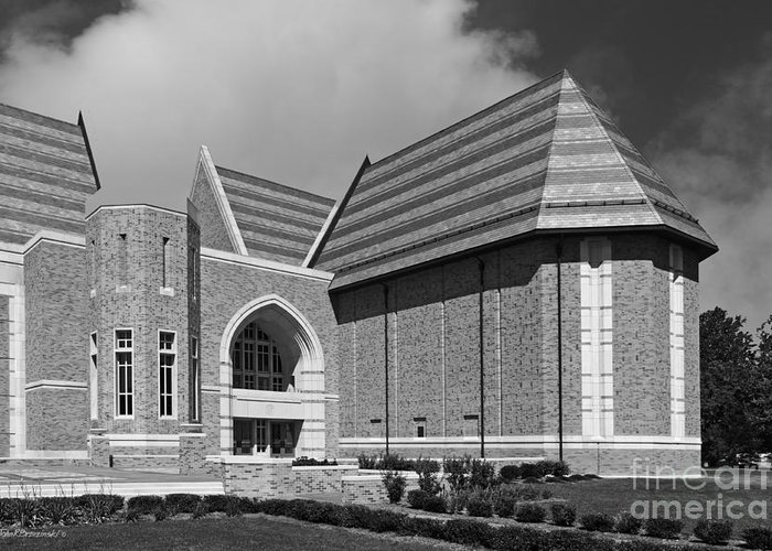Big East Conference Greeting Card featuring the photograph University Of Notre Dame De Bartolo Performing Arts Center by University Icons