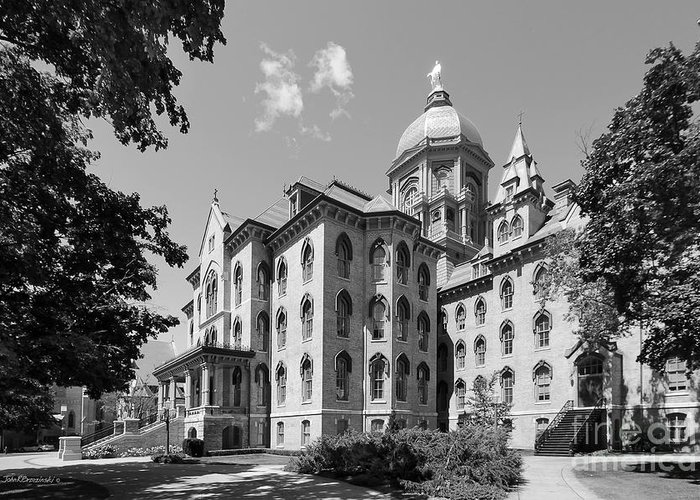 Big East Conference Greeting Card featuring the photograph University Of Notre Dame Main Building by University Icons