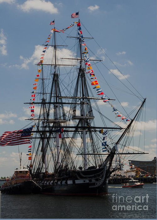 Boat Greeting Card featuring the photograph Uss Constitution by Mike Ste Marie