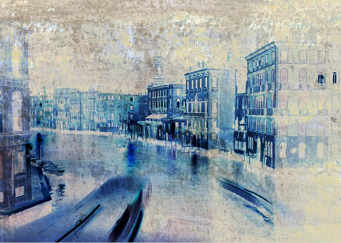 Frank Tschakert Greeting Card featuring the painting Venice Canal Grande by Frank Tschakert