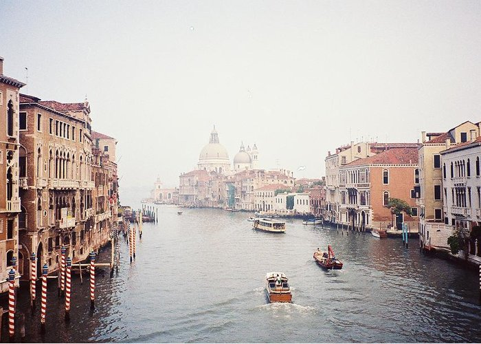 Venice Italy Europe 1990 90's Art Water Greeting Card featuring the photograph Venice Italy by Michele Aristy