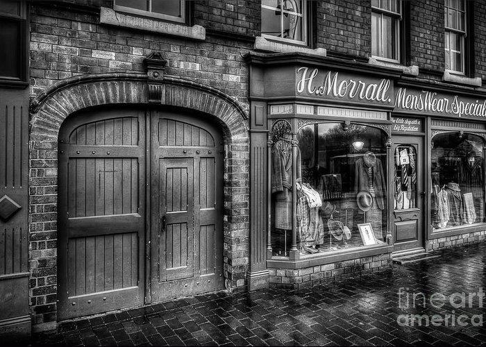 Alley Greeting Card featuring the photograph Victorian Menswear by Adrian Evans