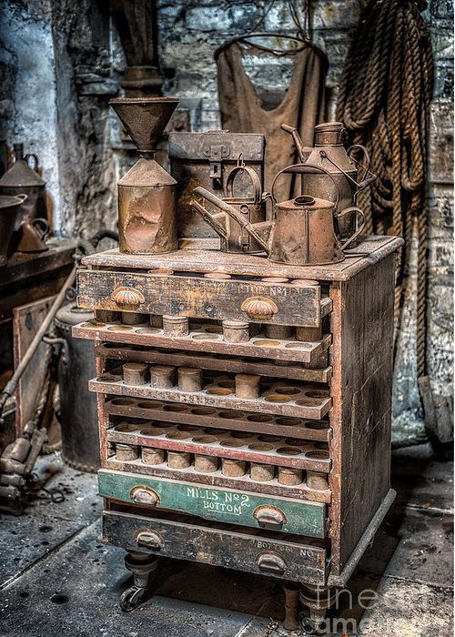 British Greeting Card featuring the photograph Victorian Workshop by Adrian Evans