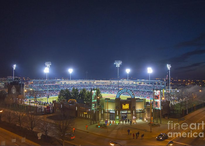 Victory Field Greeting Card featuring the photograph Victory Field 3 by David Haskett