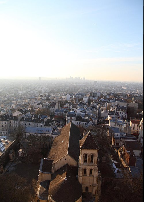 And Greeting Card featuring the photograph View From Basilica Of The Sacred Heart Of Paris - Sacre Coeur - Paris France - 011318 by DC Photographer