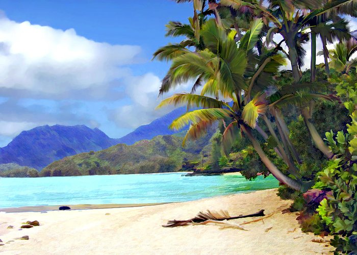 Hawaii Greeting Card featuring the photograph View From Waicocos by Kurt Van Wagner