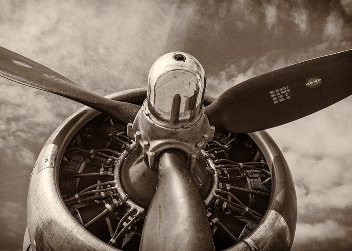 3scape Photos Greeting Card featuring the photograph Vintage B-17 by Adam Romanowicz