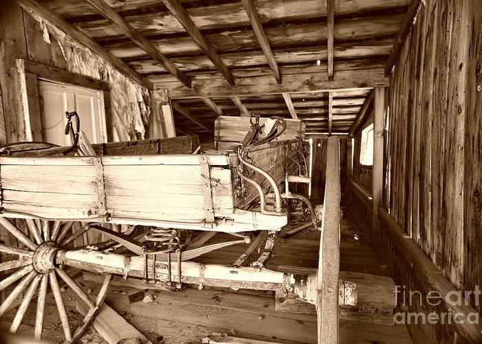 Barn Greeting Card featuring the photograph Vintage Barn Finds by Cheryl Young