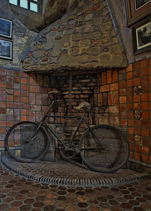 Byzantine Greeting Card featuring the photograph Vintage Bicycle by Susan Candelario