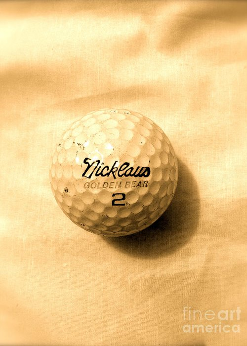 Vintage Golf Ball Greeting Card featuring the photograph Vintage Golf Ball by Anita Lewis