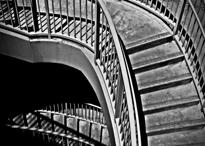 Abstracts Greeting Card featuring the photograph Visions Of Escher by Steven Milner