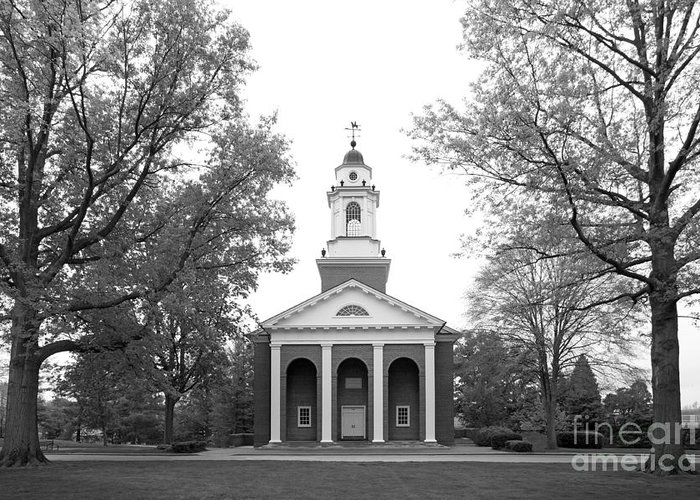 Crawfordsville Greeting Card featuring the photograph Wabash College Chapel by University Icons
