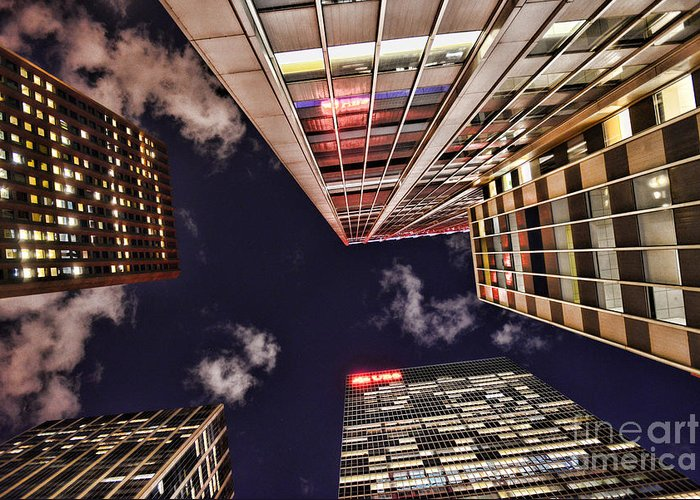 Building Greeting Card featuring the photograph Wall Street by Paul Ward