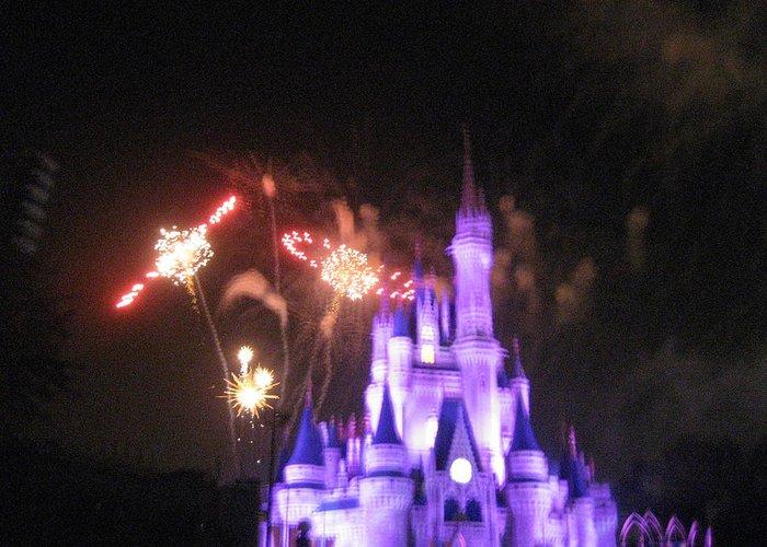 Walt Greeting Card featuring the photograph Walt Disney World Resort - Magic Kingdom - 121238 by DC Photographer
