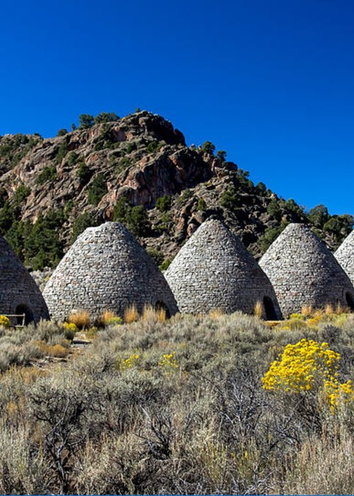Ward Charcoal Ovens State Historic Park Greeting Card featuring the photograph Wards Charcoal Ovens by Robert Bales