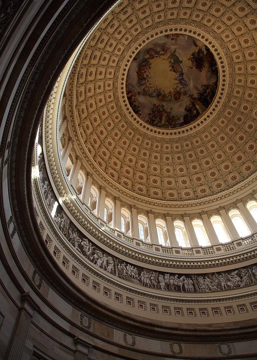 America Greeting Card featuring the photograph Washington Dc - Us Capitol - 011315 by DC Photographer