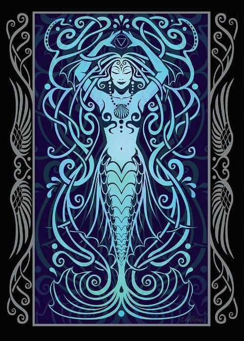 Goddess Greeting Card featuring the digital art Water Spirit V.2 by Cristina McAllister