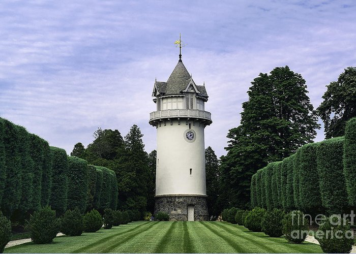 Alfred I. Dupont Greeting Card featuring the photograph Water Tower Folly by John Greim