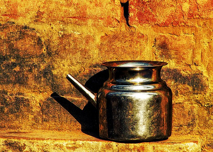 Hindu Greeting Card featuring the photograph Water Vessel by Prakash Ghai