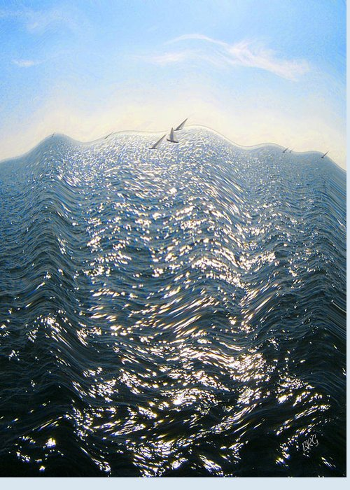 Wave Greeting Card featuring the photograph Wave by Ben and Raisa Gertsberg