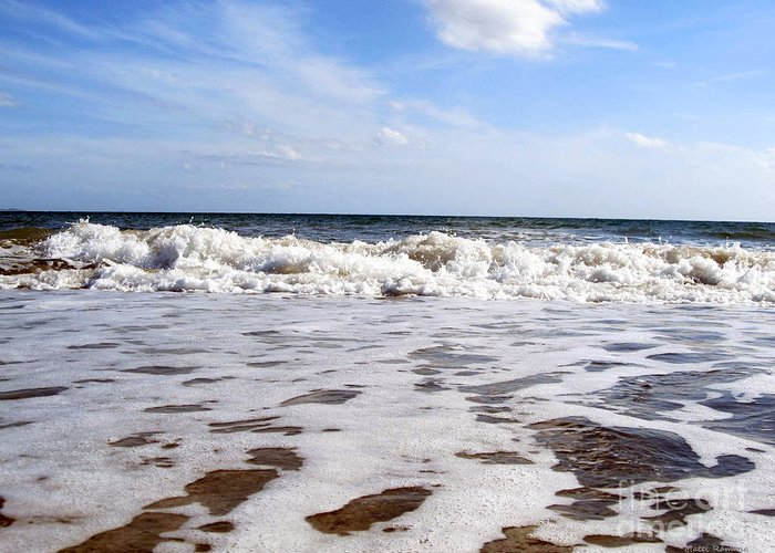 Waves Greeting Card featuring the photograph Waves by Ramona Matei
