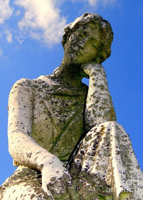 Statue Greeting Card featuring the photograph Weathered Woman by Ed Weidman