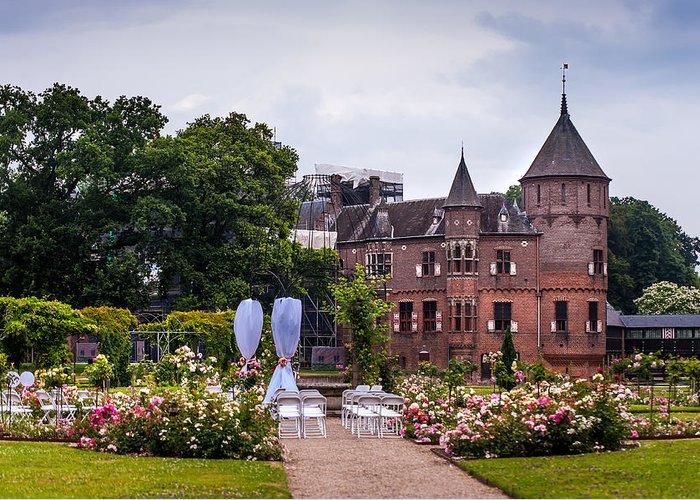 Utrecht Greeting Card featuring the photograph Wedding Setting In De Haar Castle. Utrecht by Jenny Rainbow