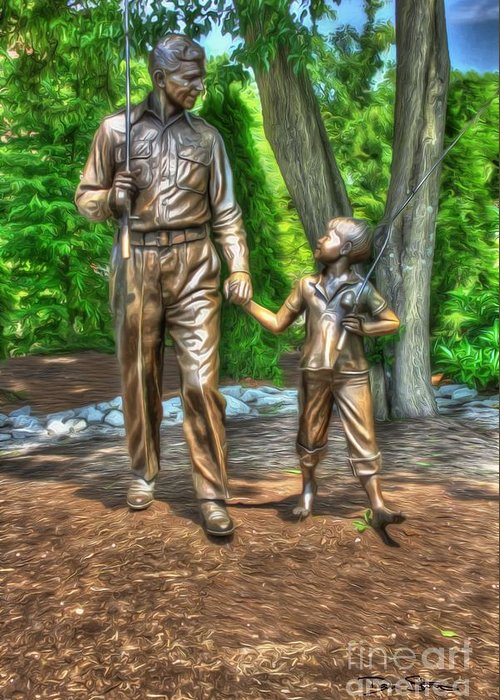 andy Taylor Greeting Card featuring the photograph Welcome To Mayberry by Dan Stone