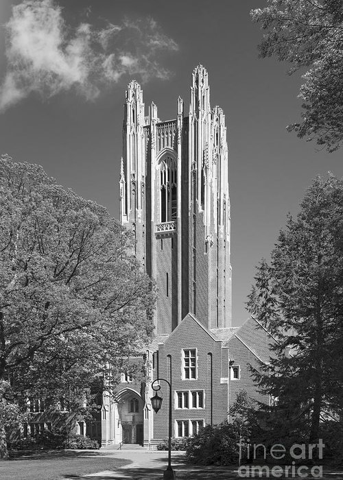 Green Hall Greeting Card featuring the photograph Wellesley College Green Hall by University Icons