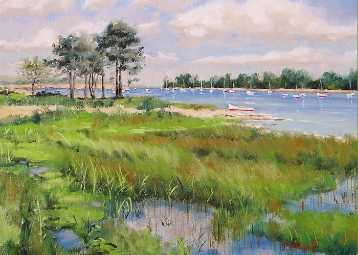 Wentworth By The Sea Greeting Card featuring the painting Wentworth By The Sea by Laura Lee Zanghetti