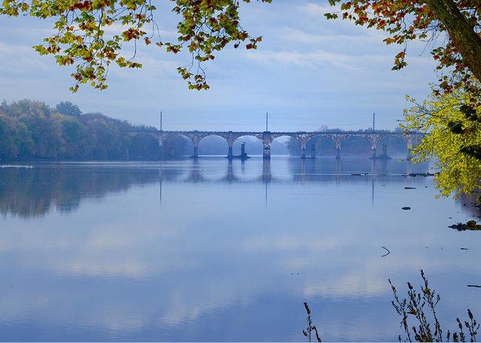 West Trenton Railroad Bridge Greeting Card featuring the photograph West Trenton Railroad Bridge by Bill Cannon
