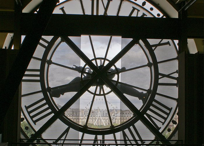 Clock Face Greeting Card featuring the photograph Wheels Within Wheels by Gary Eason