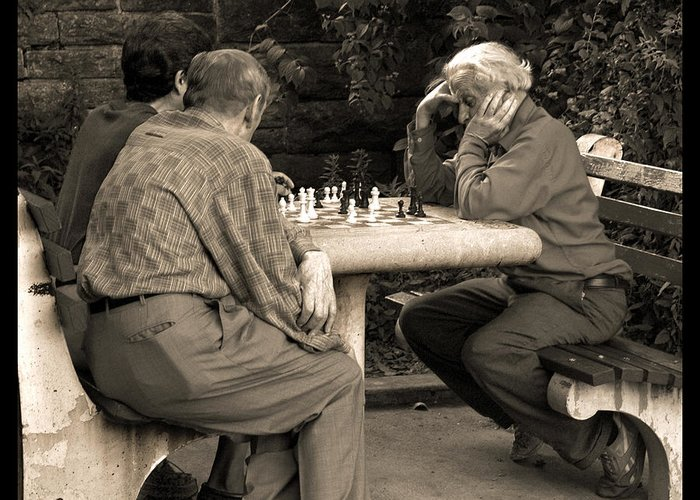 Friends Greeting Card featuring the photograph Where Is Bobby Fischer by Madeline Ellis