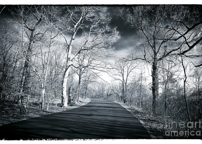 Where The Road Leads Greeting Card featuring the photograph Where The Road Leads by John Rizzuto