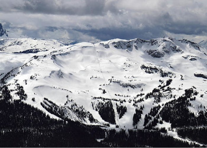 Whistler Greeting Card featuring the photograph Whistler Mountain View From Blackcomb by Pierre Leclerc Photography