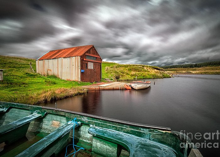Scottish Canvas Greeting Card featuring the photograph Wild Is The Wind by John Farnan