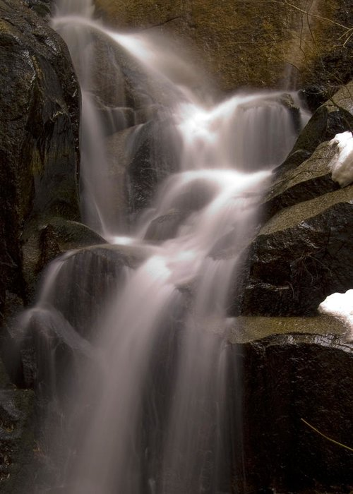 Yosemite Greeting Card featuring the photograph Wildcat Falls by Bill Gallagher