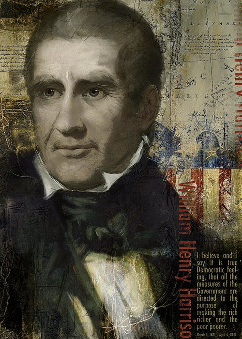 William Henry Harrison Greeting Card featuring the painting William Henry Harrison by Corporate Art Task Force