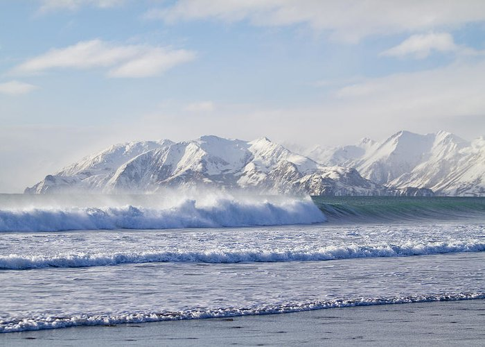 Alaska Greeting Card featuring the photograph Wind And Waves On Kodiak by Tim Grams