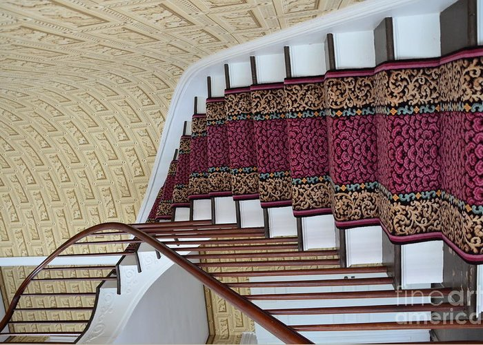 Winding Greeting Card featuring the photograph Winding Staircase by Kathleen Struckle