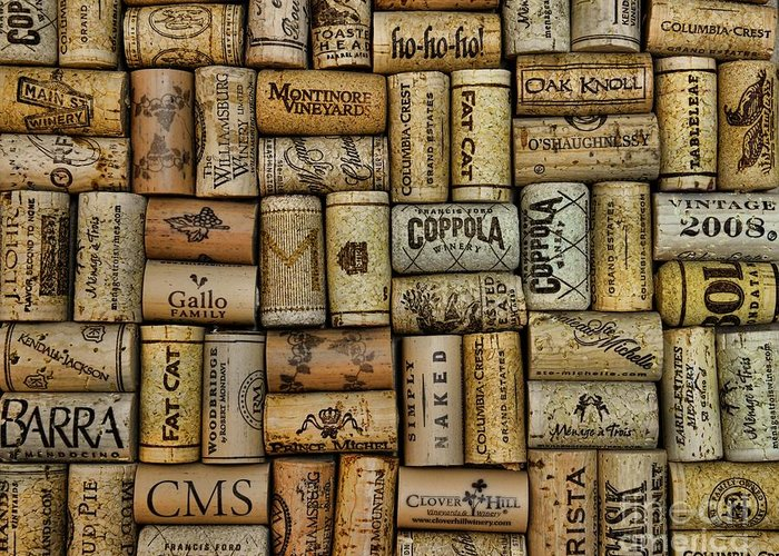 Paul Ward Greeting Card featuring the photograph Wine Corks After The Wine Tasting by Paul Ward