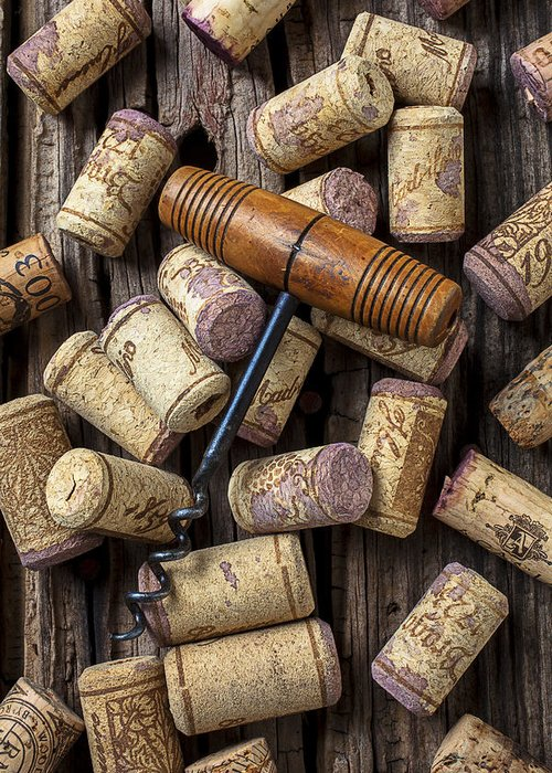 Wine Greeting Card featuring the photograph Wine Corks Celebration by Garry Gay